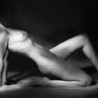 Nude in Profile Painted With Light by melmoth