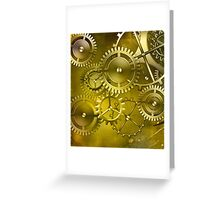 abstract steampunk machine mechanism Greeting Card