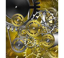 abstract steampunk mechanism Photographic Print