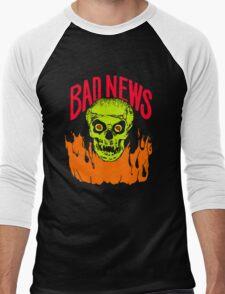 BAD NEWS logo Comic Strip Presents Men's Baseball ¾ T-Shirt