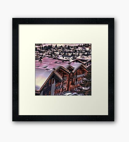 The Lights Bounce Brightly in Verbier (HDR) Framed Print
