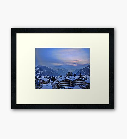 Verbier: Night Closes In Framed Print
