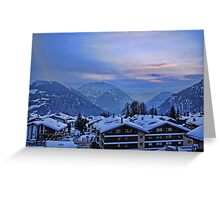 Verbier: Night Closes In Greeting Card