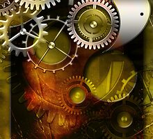abstract steampunk mechanism by Orderposter