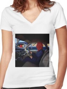 Frances the Mute Women's Fitted V-Neck T-Shirt