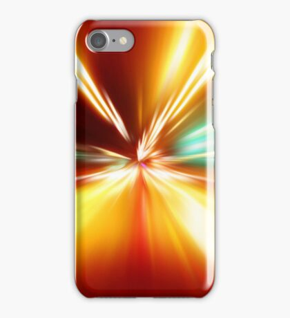acceleration speed motion on night road iPhone Case/Skin
