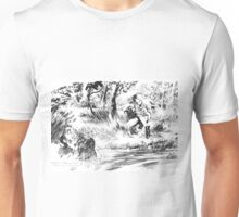 Girl near watercourse Unisex T-Shirt