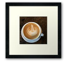 Latte Coffee Art Framed Print