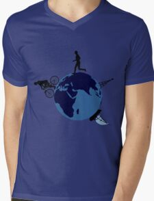 Small world Mens V-Neck T-Shirt