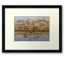 down by the riverside Framed Print