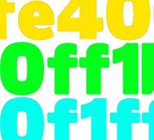 TEE SHIRT COLOUR CHART Sticker