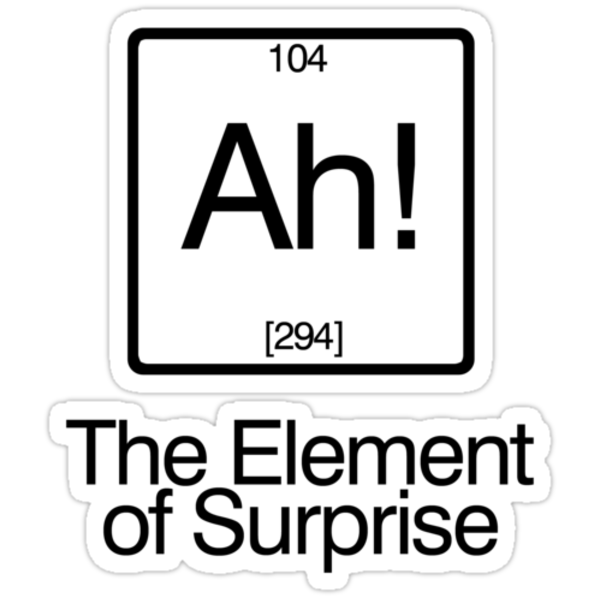 The Element of Surprise by digerati