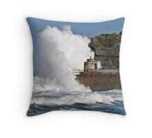 """ 4 hours after High Tide & it's still rough"" Throw Pillow"