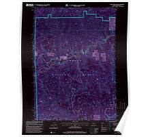 USGS Topo Map Oregon Mace Mountain 280598 1997 24000 Inverted Poster