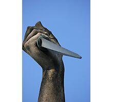 Striking Dagger Photographic Print