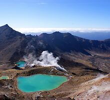 Three Lakes on the Tongariro Alpine Crossing by James Hall