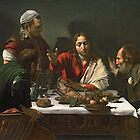 The Supper at Emaus, 1601 by Caravaggio by Bridgeman Art Library