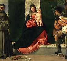 Virgin and Child with St. Anthony of Padua and St. Rocco by Giorgione by Bridgeman Art Library