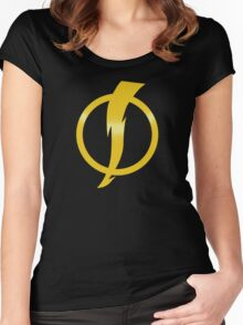 Static Shock Logo Women's Fitted Scoop T-Shirt