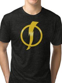 Static Shock Logo Tri-blend T-Shirt