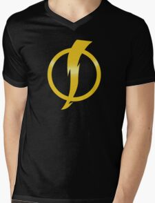 Static Shock Logo Mens V-Neck T-Shirt