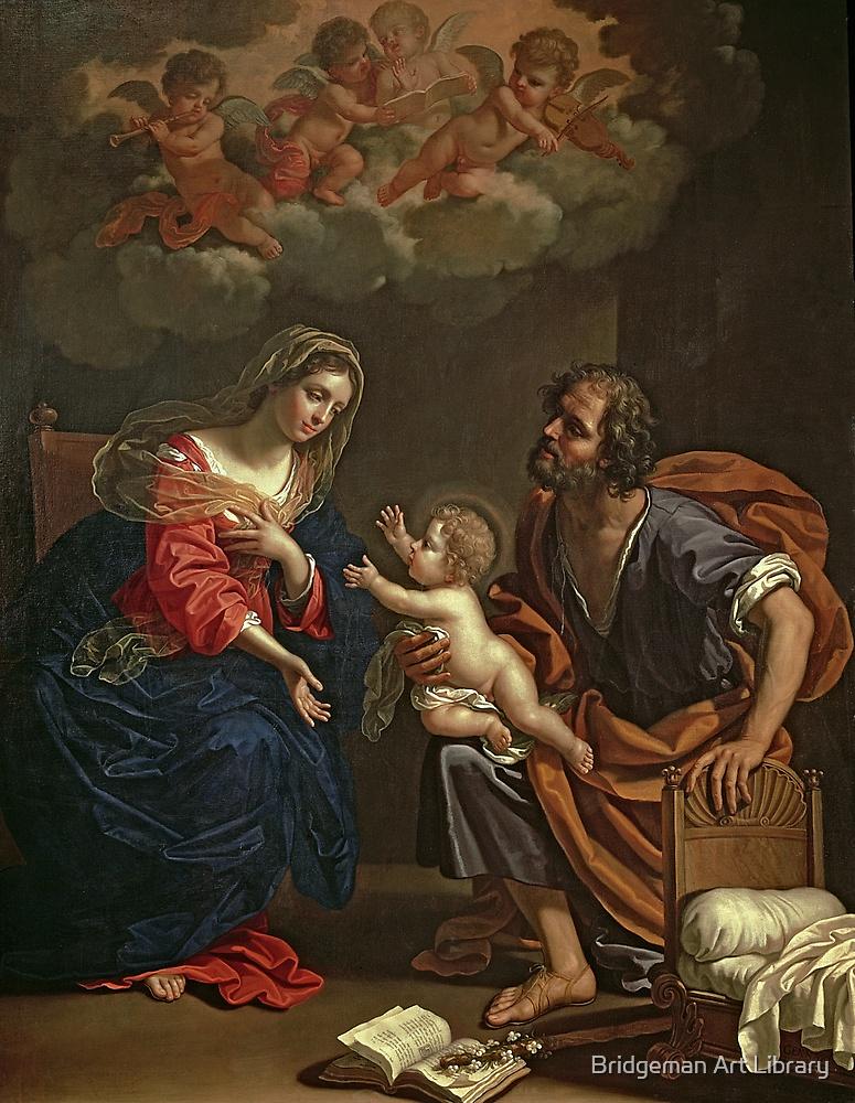 The Holy Family by Gennari by Bridgeman Art Library