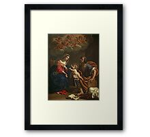 The Holy Family by Gennari Framed Print