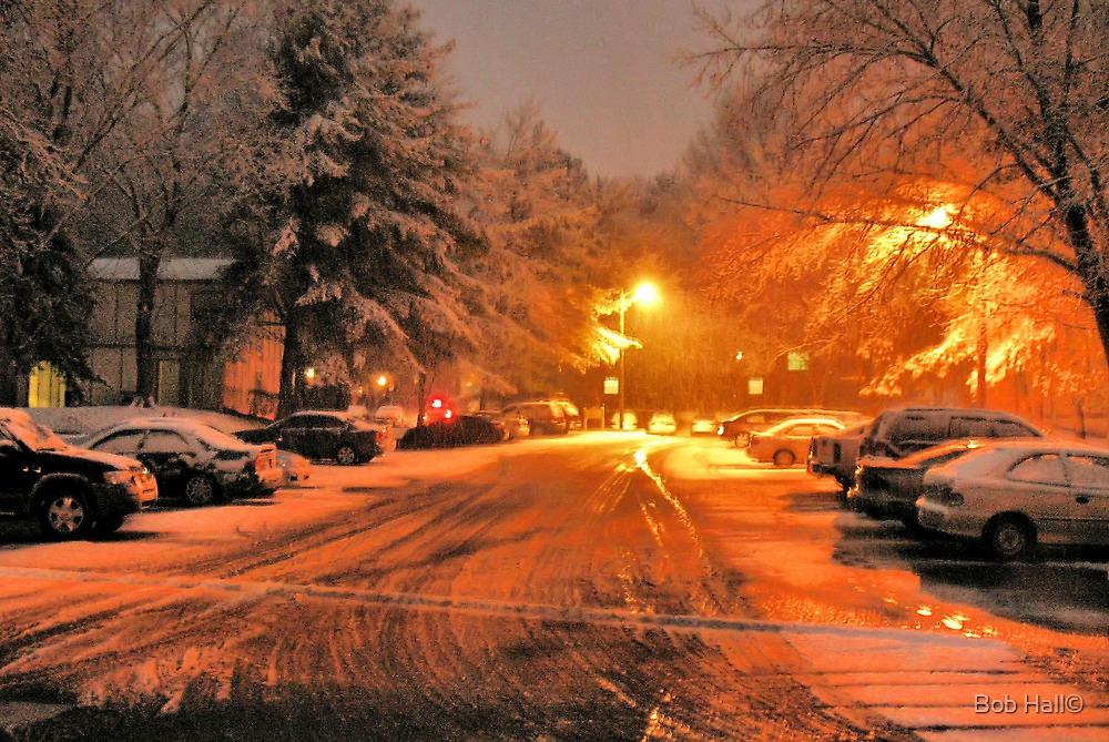 """A Snowy Evening in Knoxville"" (a series, no.1) by © Bob Hall"