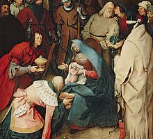 The Adoration of the Kings, 1564 by Bruegel by Bridgeman Art Library