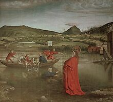 Miraculous Draught of Fishes, from the Altarpiece of Cardinal Francois de Mies by Knorad Witz by Bridgeman Art Library