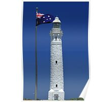 Where Two Oceans Meet - Cape Leeuwin Lighthouse, Augusta, WA Poster