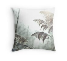 Grasses and Hoar Frost Throw Pillow