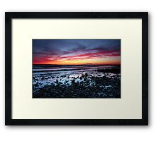 Presque Isle Sunset  Framed Print