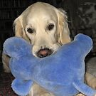 Ditte loves her blue elephant by Trine