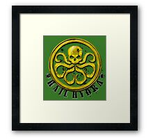 Hydra Traditional colors Framed Print
