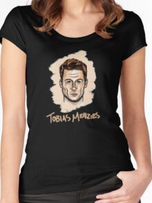 Tobias Menzies Portrait Women's Fitted Scoop T-Shirt