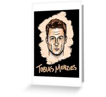 Tobias Menzies Portrait Greeting Card