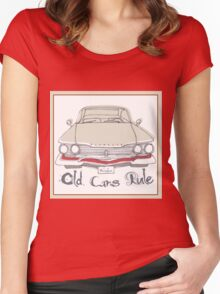 'Old Cars Rule' Plymouth Belvedere Women's Fitted Scoop T-Shirt