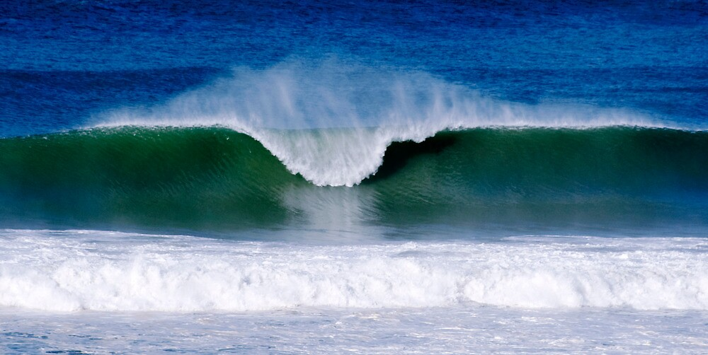 Surfs Up - Baylys Beach surf by Jenny Dean