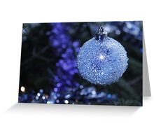 Blue Bauble Greeting Card