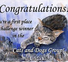 Banner for 1st place challenge winner in Cats and Dogs Group by Caroline  Lembke