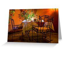 Al Fresco Dining Greeting Card