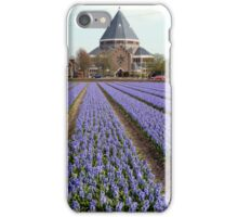 Blue hyacinths in a field iPhone Case/Skin