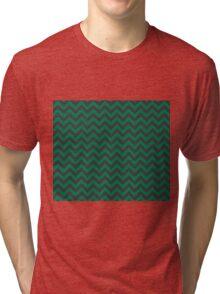Slytherin Chevron Tri-blend T-Shirt