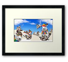Fluffy Fun in the Snow Framed Print