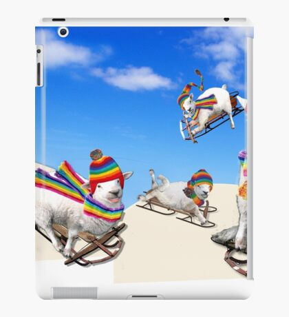 Fluffy Fun in the Snow iPad Case/Skin