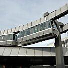 Skytrain at Düsseldorf Airport, Germany. by David A. L. Davies