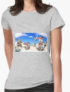 Fluffy Fun in the Snow Womens Fitted T-Shirt