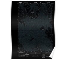 USGS Topo Map Oregon Thimbleberry Mountain 20110822 TM Inverted Poster