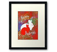 Happy Bunnies. Framed Print
